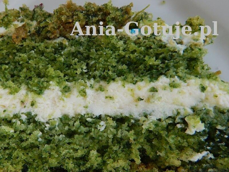 ciasto leśny mech na dużej blaszce