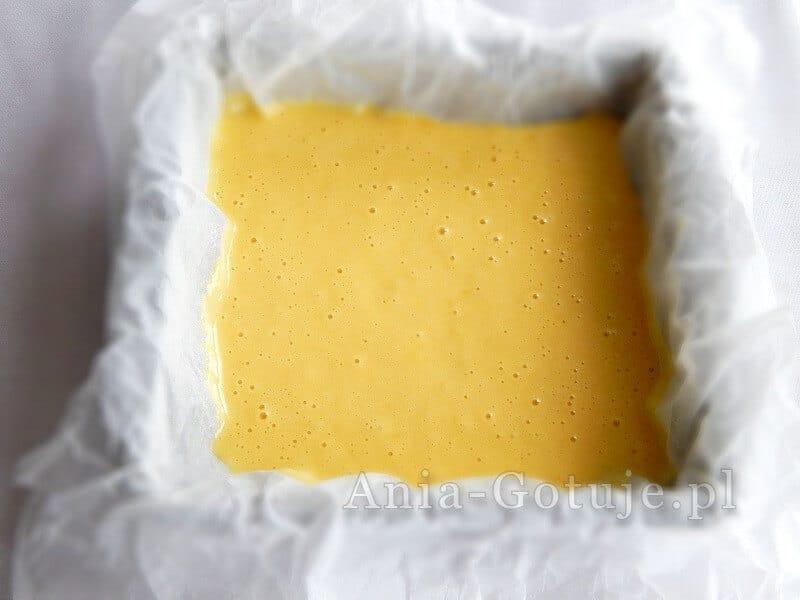 masa ciasto na małej blaszce