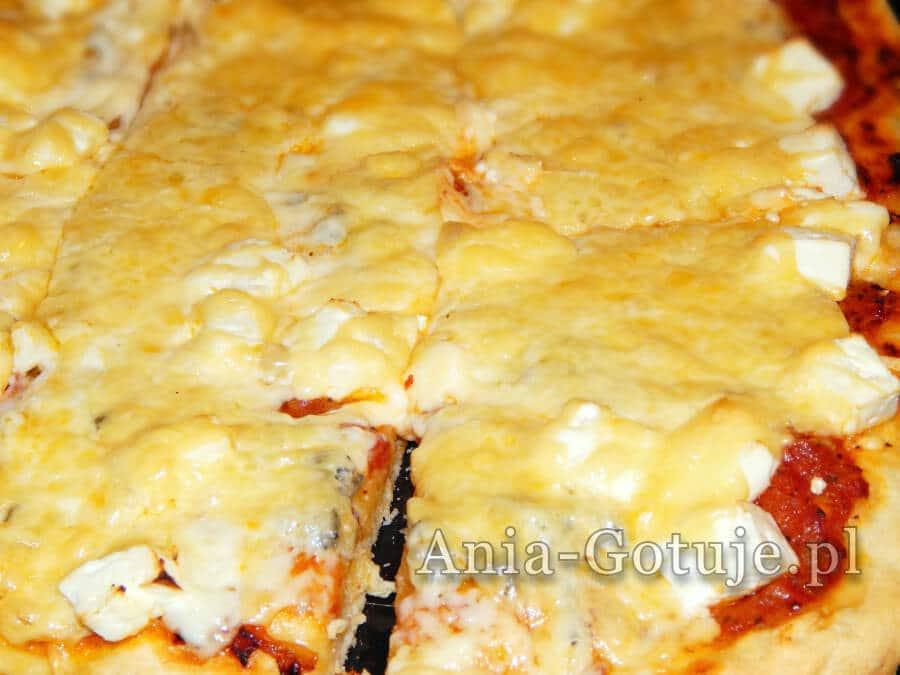 pizza domowa z serem i salami